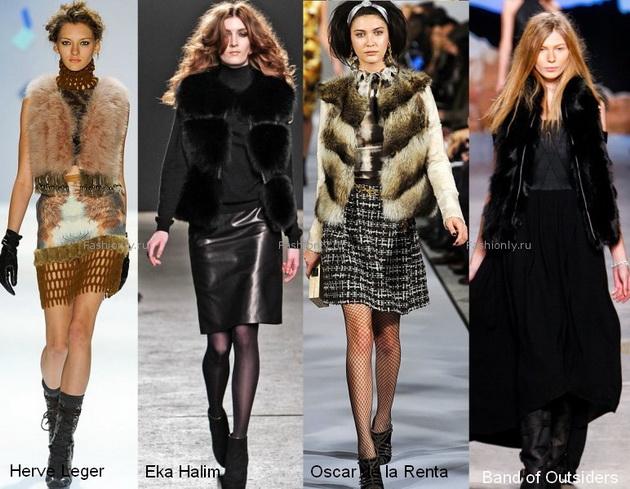 Модные вязанные жилеты 2013
