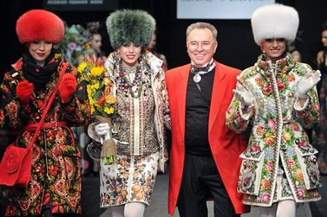 Вышивка на одежде в русском народном стиле