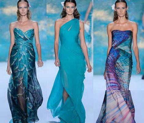 Выпускные платья и морская тематика